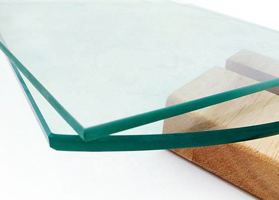Impact Resistance Tempered Safety Glass , Clear Toughened Glass For Curtain Walls